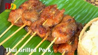 getlinkyoutube.com-Thai Grilled Pork (Thai Food) หมูปิ้ง | Moo Ping