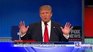 Trump lanza críticas contra presentadora de la cadena FOX NEWS