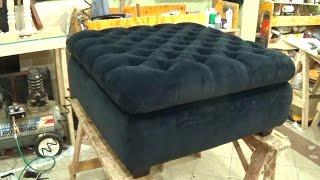 getlinkyoutube.com-HOW TO UPHOLSTER A STORAGE OTTOMAN - ALO Upholstery