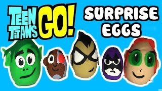 "getlinkyoutube.com-TEEN TITANS GO! Play-Doh Surprise Eggs ""Robin & Beast Boy"" & Teen Titans Go Surprise Toys"