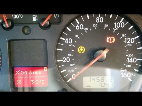 VW Golf/Bora ASR/ESP Dashboard Light comes on after 10 minutes driving - How to Fix & Repair