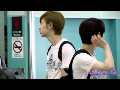 120610 EXO-K ChanYeol, Kai, Suho@Boarding Gate of Taiwan Taoyuan International Airport Part 2/2