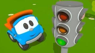 getlinkyoutube.com-Cartoni animati per bambini: Camioncino Leo Junior e il semaforo
