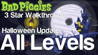 getlinkyoutube.com-Bad Piggies 5-1 to 5-IV All Levels Tusk til Dawn Halloween Update 3 Star Walkthrough