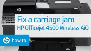 getlinkyoutube.com-Fixing a Carriage Jam - HP Officejet 4500 Wireless All-in-One (G510n)