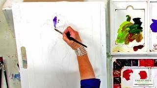 getlinkyoutube.com-Watercolor Techniques with Janet Rogers - Painting an Iris - Part 2