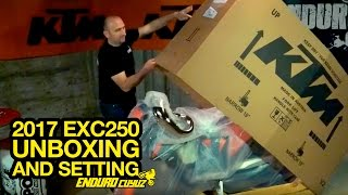 getlinkyoutube.com-Unboxing and Setting 2017 KTM EXC 250