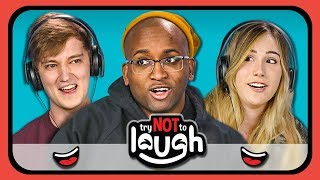 YouTubers React to Try to Watch This Without Laughing or Grinning #13 width=