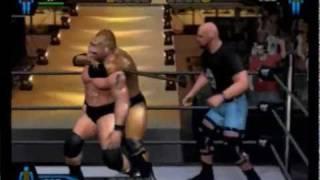 getlinkyoutube.com-Smackdown HCTP:  The Rock vs. Brock Lesnar vs. Steve Austin