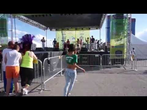 Bachata Diva dancing samba at Vegas Loves Brazil Festival