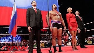Rusev & Lana celebrate their United States Championship conquest: Raw, November 10, 2014
