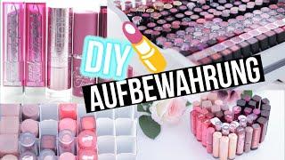 getlinkyoutube.com-DIY Makeup Aufbewahrung Lippenstift - STORAGE BEAUTY HACKS