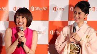 getlinkyoutube.com-小林麻耶・麻央、約3年半ぶり姉妹そろい踏み  「New Office 発売記念イベント」(1)
