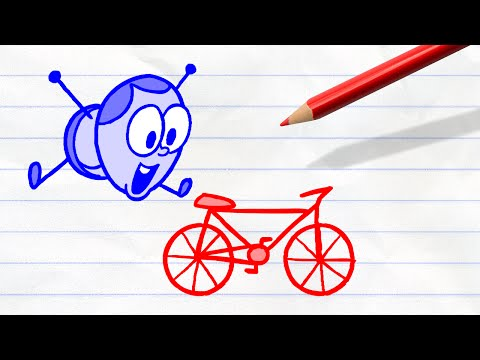 Uneasy Rider | Pencilmation #39 | Cartoons for Kids and Fun People