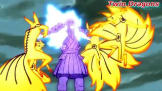 Naruto vs Sasuke batalla final Linkin Park
