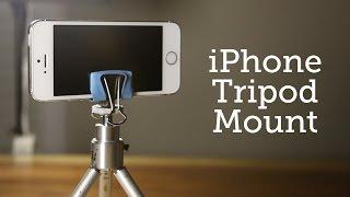 getlinkyoutube.com-DIY iPhone tripod Mount