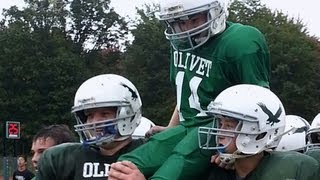 getlinkyoutube.com-On the Road: Middle school football players execute life-changing play