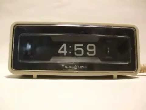 General Electric Vintage 1970's Digital Alarm Clock