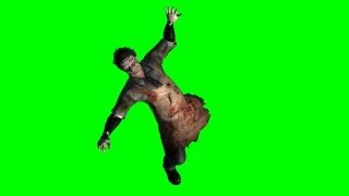 getlinkyoutube.com-zombie is shot - green screen