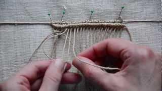getlinkyoutube.com-Macrame: How to Weave? / Makramee Design Element