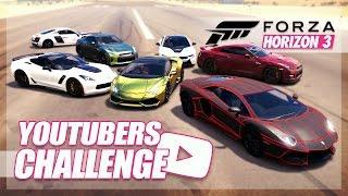 Forza Horizon 3 - YouTuber Cars Challenge! (KSI, Roman Atwood, Ali-A)