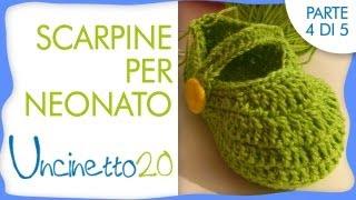 getlinkyoutube.com-Tutorial uncinetto - Scarpine per neonato - 4 di 5