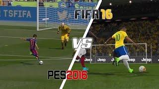 getlinkyoutube.com-FIFA 16 Vs PES 2016 - Long Shots, Finesse Shots, Lobs