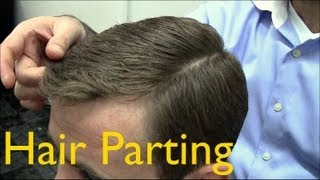 getlinkyoutube.com-✄ Barber Tutorials 2 - Cutting and Styling: Parting