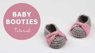 getlinkyoutube.com-How To Crochet Baby Booties | Croby Patterns