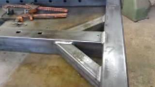 getlinkyoutube.com-Mig welding Mild steel post supports