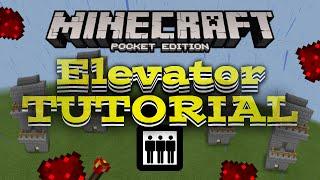 getlinkyoutube.com-elevator in Minecraft PE TUTORIAL - MCPE Redstone creation