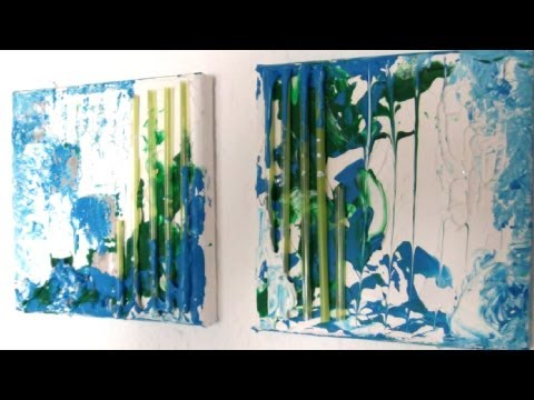 Abstrakt malen mit Acryl (Abstract painting with acrylic)[HD]