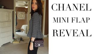 Chanel Square MINI Classic Flap Unboxing//Reveal  ♡