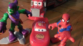 Relâmpago Lightning McQueen Cars Spiderman Duende Verde DOAR BRINQUEDOS Toys Juguetes Kids