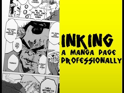 Inking A Manga Page Professionally