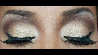 "getlinkyoutube.com-TUTORIAL: Maquillage soirée "" MARRON"""