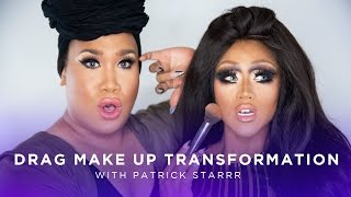 getlinkyoutube.com-Drag Queen Makeup Transformation w/ Patrick Starrr