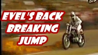getlinkyoutube.com-EVEL KNIEVEL breaks his back JUMPING 11 MACK TRUCKS