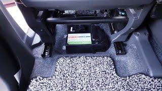 getlinkyoutube.com-ハスラー 助手席下のリチウム電池が丸見えで何とかしたい件・・・。