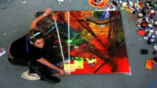 getlinkyoutube.com-stop motion, abstract painting. RED