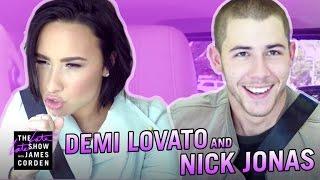 getlinkyoutube.com-Demi Lovato & Nick Jonas Carpool Karaoke