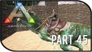 "getlinkyoutube.com-ARK: Survival Evolved Gameplay Part 45 - ""RIDING OUR OWN CARNOTAURUS"""