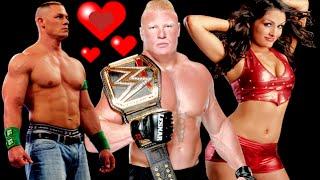getlinkyoutube.com-Nikki Bella/Brock Lesnar/John Cena Crazy In Love Story Love!