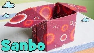 getlinkyoutube.com-Caja de Papel - Origami Sanbo