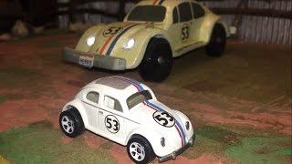 """getlinkyoutube.com-Hot Wheels VW Beetle """"Herbie Goes Bananas"""" 1980"""
