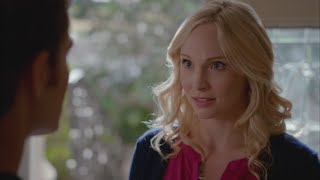 getlinkyoutube.com-The Vampire Diaries: 7x08 - Caroline tells Stefan that she is pregnant with Alaric's twins [HD]