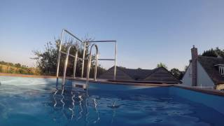 getlinkyoutube.com-Shipping Container Pool - UNDER WATER