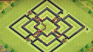 getlinkyoutube.com-Clash of Clans - TH8 Farming Base Unpredictable