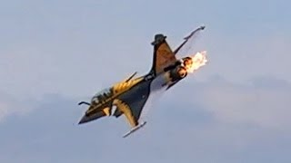 getlinkyoutube.com-RC TURBINE JET CRASH !!! DASSAULT RAFALE RC JET WITH FIRE IN THE ENGINE TURBINE EXPLOSION !!!