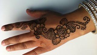 getlinkyoutube.com-how to do a simple henna design